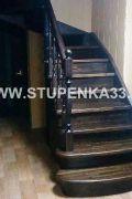 Лестница из массива лиственницы и сосны