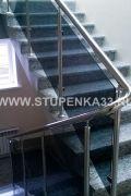 Ограждение из тонированного калёного стекла в офис компании ООО «Норси» в г. Владимир