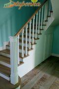 Обшивка бетонной лестницы массивом дуба.