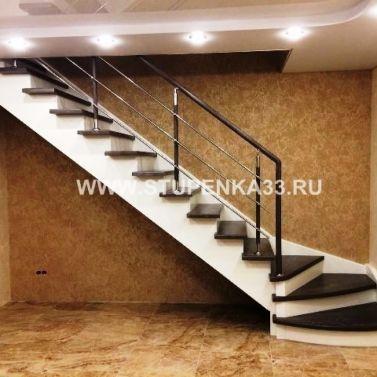 Лестница из ясеня и сосны