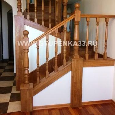 Обшивка бетонной лестницы массивом дуба