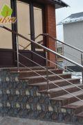 Ограждение из нержавеющей стали для уличной лестницы